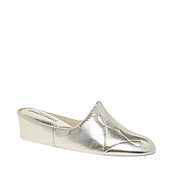 Relax - Metallic 'Dulcie' Leather Slippers