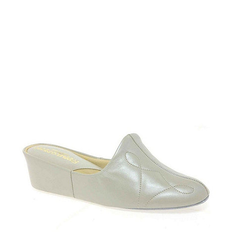 Relax - Cream +Dulcie+ Leather Slippers