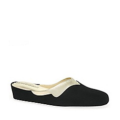 Relax - Black 'Messina' Ladies Slippers
