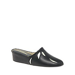 Relax - Black 'Molly' Leather Slippers