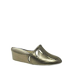 Relax - Metallic 'Molly' Leather Slippers