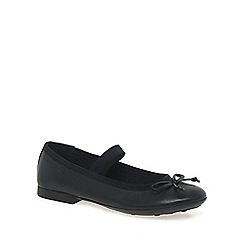 Geox - Black leather 'Plie Junior' girls school shoes