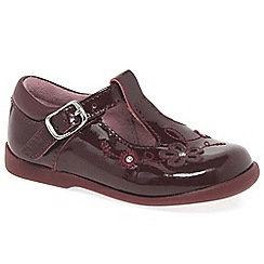 Start-rite - Wine patent leather 'Sunflower' girls T-bar shoes