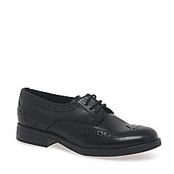 Geox - Black leather 'Agata Lace' school shoes