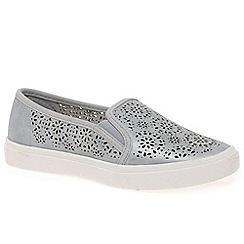 XTI - Silver 'Ibiza' Girls Slip On Trainers