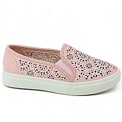 XTI - Pink 'Ibiza' Girls Slip On Trainers