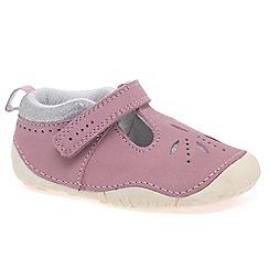 Start-rite - Pink nubuck 'Polly' Prewalkers