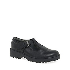 Geox - Black patent 'Junior Casey T-Bar' girls school shoes