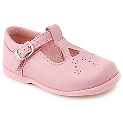 Start-rite - Pink leather 'Sandalette III' T-Bar first shoes