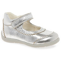 Geox - Baby girls' Silver leather 'Kaytan' Mary Jane Infant Shoes