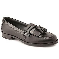 Start-rite - Black leather 'Loafer Pri' girls school shoes