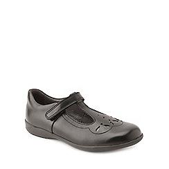 Start-rite - Black leather 'Poppy' infant girls school shoes
