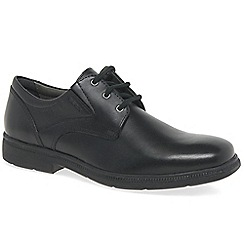 Geox - Black leather 'Federico' boys school shoes
