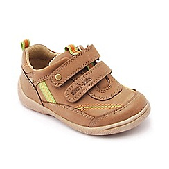 Start-rite - Brown leather 'Super Soft Leo' riptape shoes