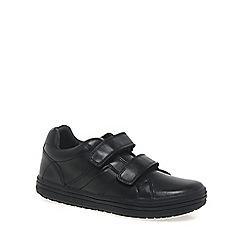 Geox - Black leather 'Elvis' boys school shoes