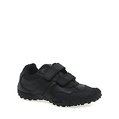 Geox - Black leather 'Junior Giant' boys school shoes
