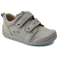 Start-rite - Grey leather 'Super Soft Beetlebug' riptape first shoes