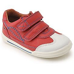 Start-rite - Red leather 'Flexi Soft Turin' riptape first shoes