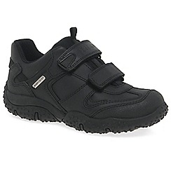 Geox - Black leather 'Junior Baltic' boys school shoes