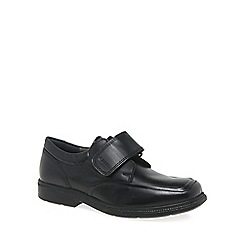 Geox - Black leather 'Federico Riptape' boys school shoes