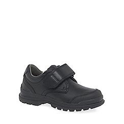 Geox - Boys' black 'Junior New William' riptape fastening school shoes