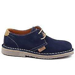 XTI - Navy 'Stitch' boys suede lace up casual shoes