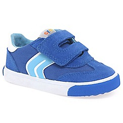 Geox - Boys' blue suede 'Kiwi' trainers