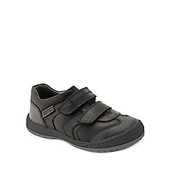 Start-rite - Black leather 'Flexy Tough Pre' boys riptape shoes
