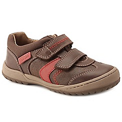 Start-rite - Brown leather 'Flexy Tough Pre' boys riptape shoes