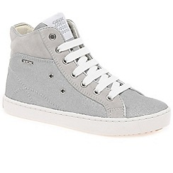 Geox - Girls' light grey junior Kiwi Hi Top Boots
