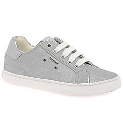 Geox - Girls' light grey 'Junior Kiwi' casual trainers