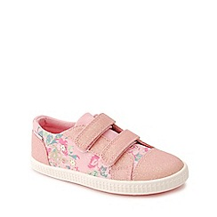 Start-rite - Pink canvas 'Edith' riptape trainers