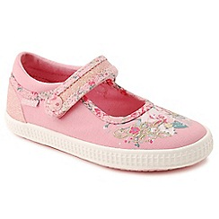 Start-rite - Pink canvas 'Elsie' Mary-Jane shoes