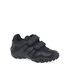 Geox - Boys' black 'Crush' School Shoes