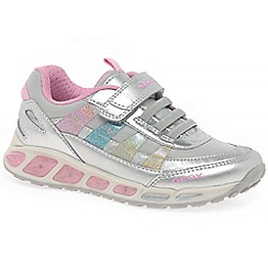Geox - Girls' silver 'Junior Shuttle' trainers