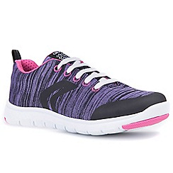 Geox - Girls' lilac 'Junior Xunday Lace' trainers