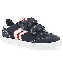 Geox - Boys' navy suede 'Kiwi' casual trainers