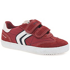 Geox - Red suede 'Kiwi' boys casual trainers