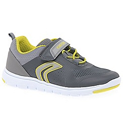 Geox - Boys' grey 'Junior Xunday' trainers