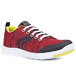 Geox - Boys' red 'Xunday Lace' trainers