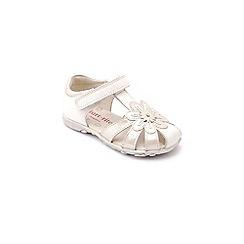 Start-rite - White leather 'Primrose' girls first sandals