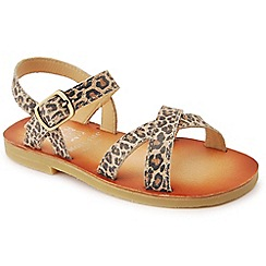 Start-rite - Brown leather 'Nice II' sandals