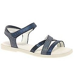 Geox - Girls' navy 'Junior Karly' strappy sandals