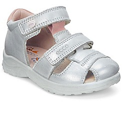 Ecco - Silver 'Peekaboo Girls' First Sandals