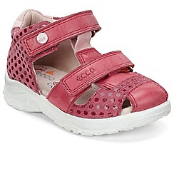 Ecco - Dark pink 'Peekaboo Girls' First Sandals