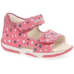 Geox - Girls' pink 'Baby tapuz' infant sandals