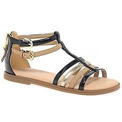Geox - Girls' black 'Junior Karly' Gladiator sandals