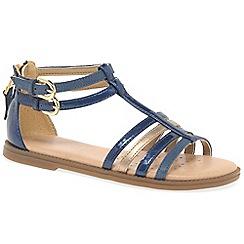 Geox - Girls' navy 'Junior Karly' Gladiator sandals