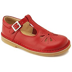 Start-rite - Red leather 'Lottie IV' T-bar infant shoes