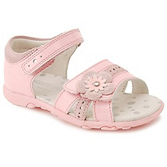Start-rite - Pale pink leather 'Phoebe' girls first sandals